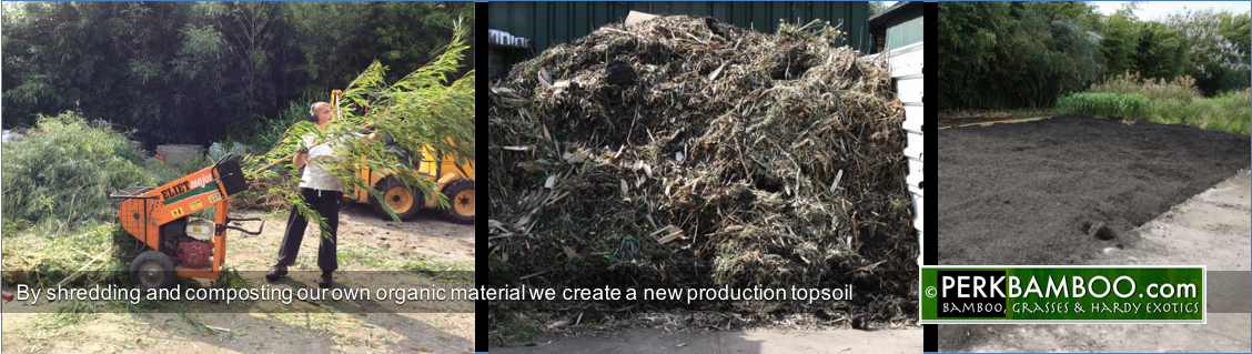 By shredding and composting our own organic material we create a new production topsoil