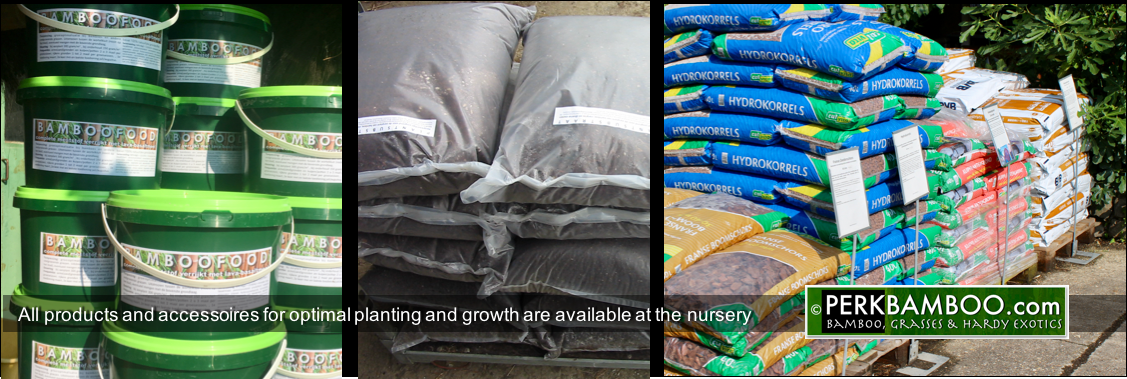All products and accessoires for optimal planting and growth are available at the nursery
