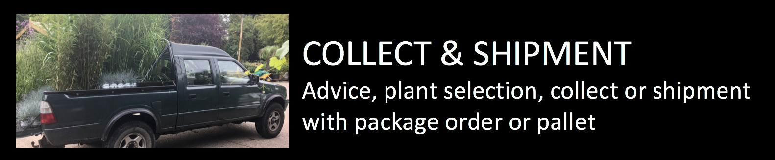 Plantstore collect and shipment advice plantselection collect or shipment with package order or pallet
